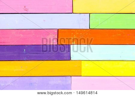 Bunch Of Square Colorful Pastel Chalks Closeup Background