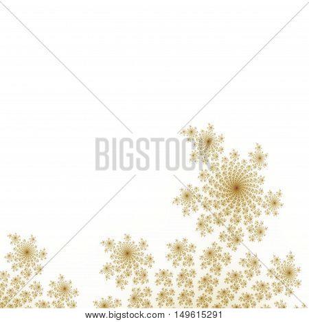 Art deco fractal floral lower background decoration