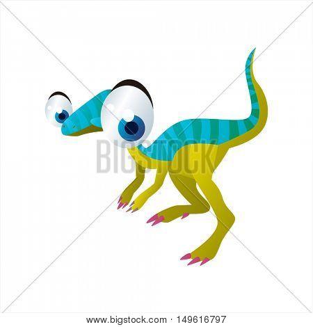 cute vector comic cartoon animal. Cool colorful dinosaur Fabrosaurus