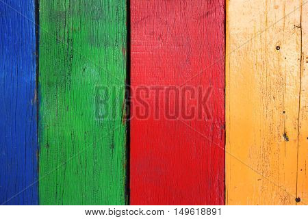 Old multicolor wood board background texture. detail
