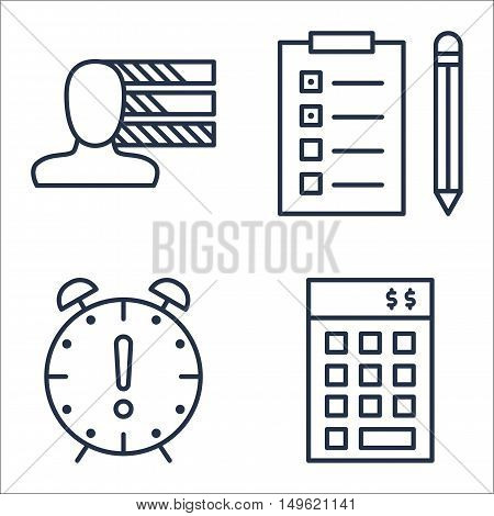 Set Of Project Management Icons On Personality, Deadline, Task List And More. Premium Quality Eps10