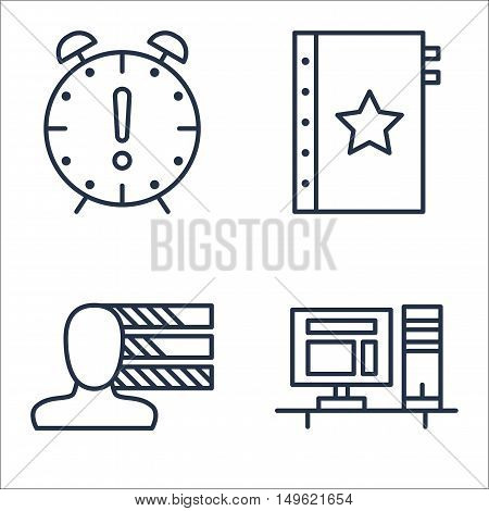 Set Of Project Management Icons On Personality, Quality Management, Deadline And More. Premium Quali