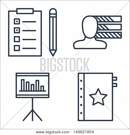 Set Of Project Management Icons On Quality Management, Task List, Personality And More. Premium Qual