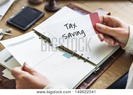 Tax Time Season Finance Concept