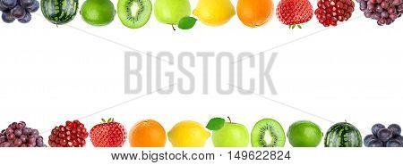 Color fresh fruits. Healthy food concept. Fresh food