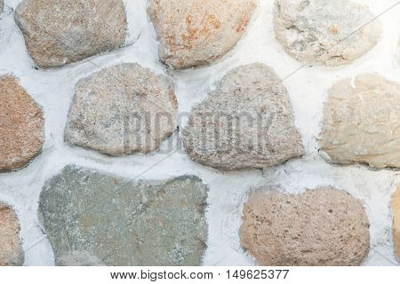 Stones In The Wall At Background