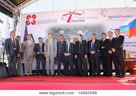 Ceremony Of Stacking Of A Memorable Capsule Agusta Westland