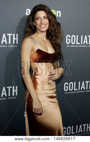 Tania Raymonde at the Los Angeles premiere of Amazon's 'Goliath' held at the London Hotel in West Hollywood, USA on September 29, 2016.