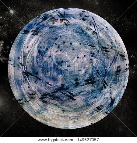 Digital image of globe over white background