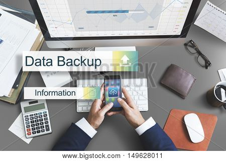 Data Backup Storage Transfer Concept