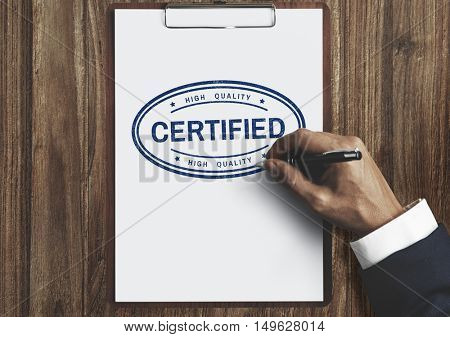 Certified Warranty Guarantee Insurance Assurance Concept