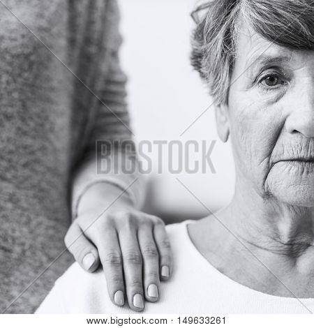 Elderly Woman With Alzheimer