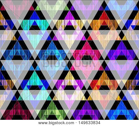 Bright grunge triangle abstract geometric textured art pattern
