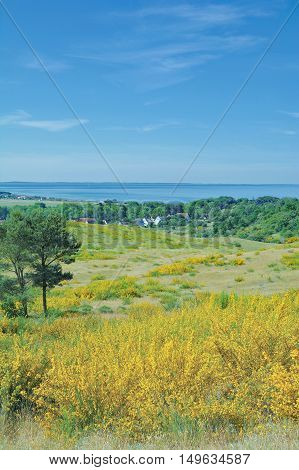 View to Village of Kloster on Hiddensee Island,baltic Sea,Mecklenburg western Pomerania,Germany