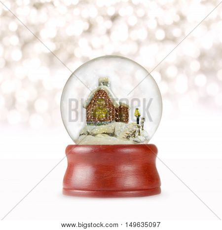 Christmas snow globe in white background. Can be used as a Christmas or a New Year gift or symbol