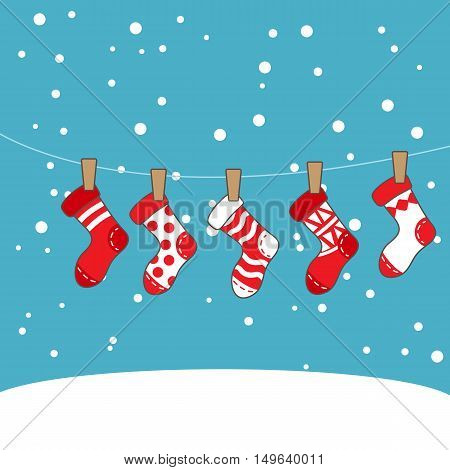 cartoon christmas socks great for your design