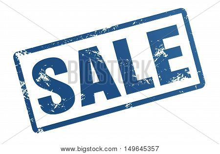 sale rubber stamp illustration isolated on white background