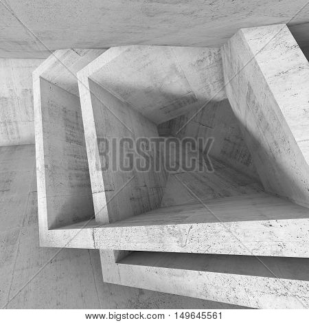 Square Architecture Background, 3 D