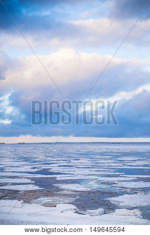 Winter Coastal Landscape, Baltic Sea