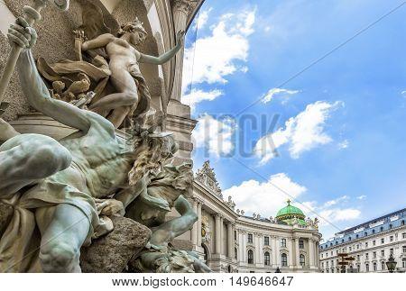 Michaelertrakt Palace, Hofburg In Vienna, Austria.