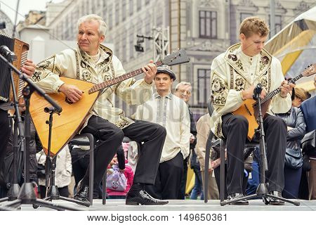 Moscow, Russia - September 11, 2016: Moscow City Day. Moscow Residents And Guests Celebrate The 869