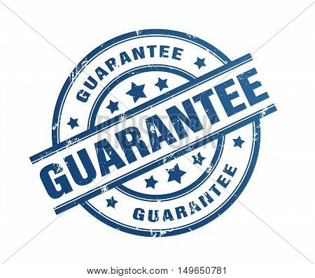 guarantee rubber stamp illustration isolated on white background