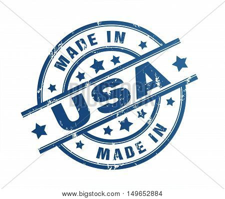 made in usa rubber stamp illustration isolated on white background