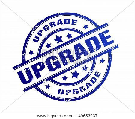 upgrade rubber stamp illustration isolated on white background