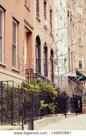 Hoboken Brownstones In Spring