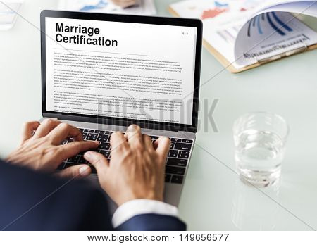 Marriage Certification Wedding Ceremony Love Concept