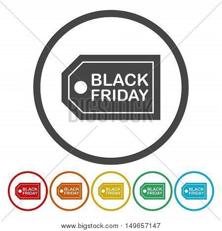 Black Friday Sale Abstract Vector Illustration set