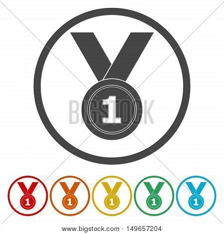 Medal winner. Vector set on white background