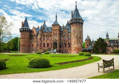 Haarzuilens, Netherlands - May 18, 2012: Castle De Haar