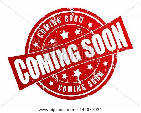 coming soon rubber stamp illustration isolated on white background