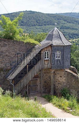 Guardhouse at castle Lichtenberg (Fischbachtal, Hesse, Germany)