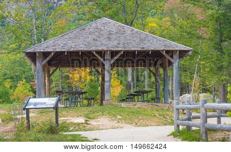A Gazebo and picnic area in the White Mountains