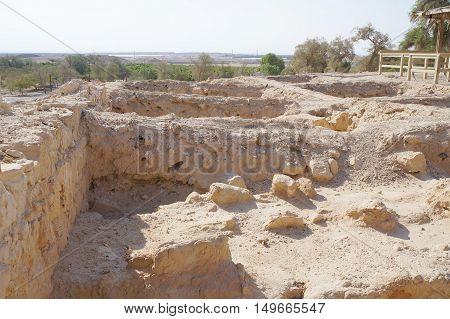 Biblical Tamar park, Arava, South Israel. Ruins of Greco-Roman period houses