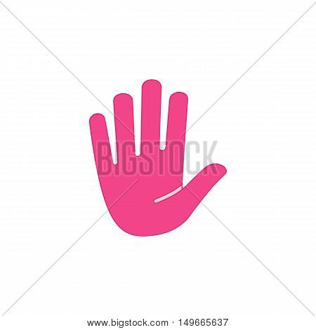 Palm Icon Vector. Flat simple color pictogram