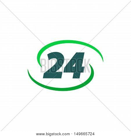 24 hours Icon Vector. Flat simple color pictogram