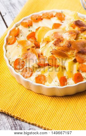 Potato And Carrot Gratin