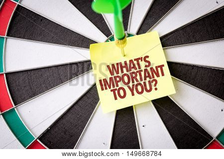 Whats Important To You?