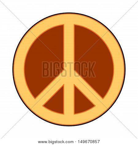 Peace symbol sign on white background. Vector illustration.
