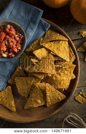 Homemade Pumpkin Tortilla Chips