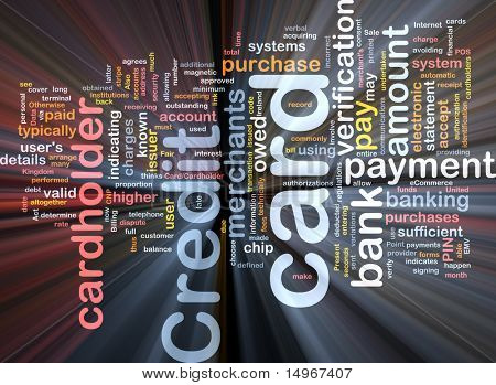 Software package box Word cloud concept illustration of credit card