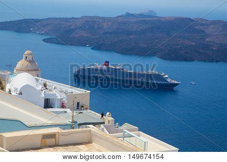 sights of Santorini island Famous resort, Greece