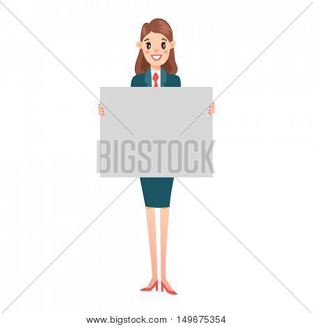 Business man hold banner vector