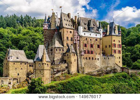 Ancient castle Eltz near Cochem in Germany