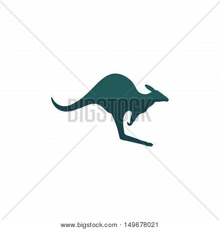 Kangaroo Icon Vector. Flat simple color pictogram