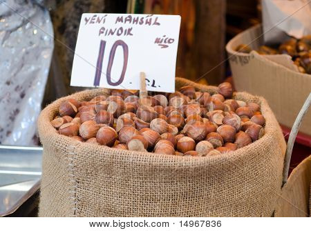 Sackful Of Hazelnuts