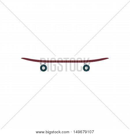 Skateboard Icon Vector. Flat simple color pictogram